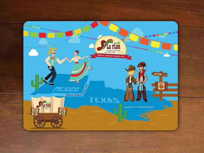 LaFlora Tex Mex Cuisine - Placemat