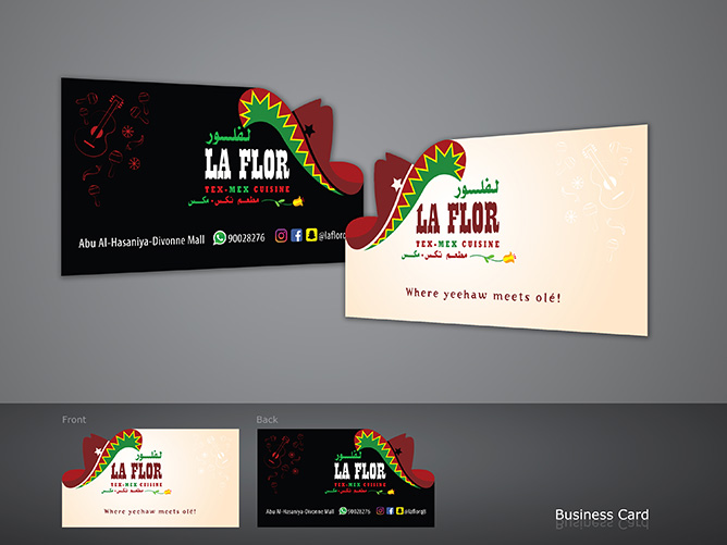 LaFlora Tex Mex Cuisine - Business Card